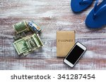 objects for travel isolated on... | Shutterstock . vector #341287454