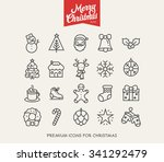 merry christmas   thin line...   Shutterstock .eps vector #341292479