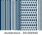 geometric ethnic pattern... | Shutterstock .eps vector #341306960