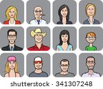 vector illustration of diverse... | Shutterstock .eps vector #341307248