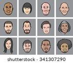 vector illustration of diverse... | Shutterstock .eps vector #341307290