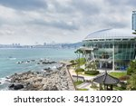 Small photo of Busan, Korea - September 19, 2015: The Nurimaru APEC is located on Dongbaekseom island and built for the 2nd APEC Leaders' meeting in 2005.