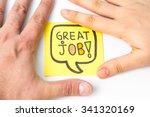 great job written on yellow... | Shutterstock . vector #341320169