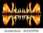 fire reflect on black background   Shutterstock . vector #341325956