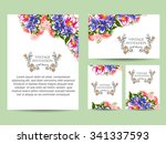 invitation with floral... | Shutterstock .eps vector #341337593