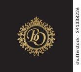 bo initial luxury ornament... | Shutterstock .eps vector #341338226