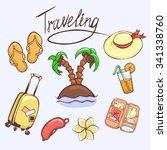 vector illustration set of... | Shutterstock .eps vector #341338760