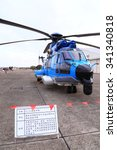 Small photo of EC-225 helicopter open to tourists in the Hsinchu Air Base in Taiwan. In November 19, 2015