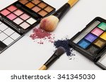 makeup products on white... | Shutterstock . vector #341345030