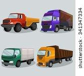 industrial freight vehicles... | Shutterstock .eps vector #341347334