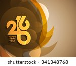 colorful modern happy new year...   Shutterstock .eps vector #341348768