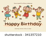 birthday greeting card with... | Shutterstock .eps vector #341357210