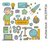 line design concept for startup ...   Shutterstock .eps vector #341359916
