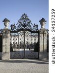 Wrought Iron Gate Of Old Castle ...