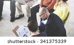 business people meeting... | Shutterstock . vector #341375339