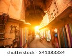 Sunset View Of Shopping Street...