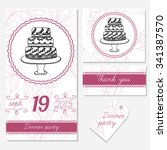 hand drawn wedding template.... | Shutterstock .eps vector #341387570