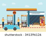 gas petroleum petrol refill... | Shutterstock .eps vector #341396126