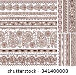 super set of ornamental...   Shutterstock . vector #341400008