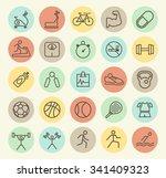 set of isolated universal... | Shutterstock .eps vector #341409323