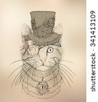 Steampunk Cat In The Hat And...