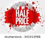 half price word cloud  business ... | Shutterstock .eps vector #341413988