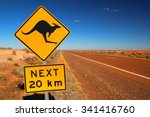 australian road sign on the... | Shutterstock . vector #341416760
