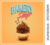 bakery shop cupcake   Shutterstock .eps vector #341418644