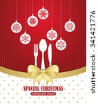 special christmas restaurant... | Shutterstock .eps vector #341421776
