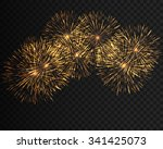 collection firework  festive... | Shutterstock .eps vector #341425073