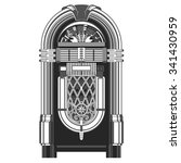 jukebox   automated retro music ... | Shutterstock .eps vector #341430959