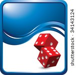 red dice on modern style wave...   Shutterstock .eps vector #34143124