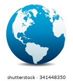 north and south america  europe ... | Shutterstock . vector #341448350