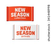 new season arrivals and... | Shutterstock .eps vector #341448998