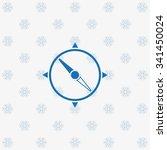 compass. icon. vector design...
