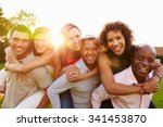 portrait of mature men giving... | Shutterstock . vector #341453870