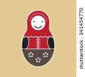 matryoshka russian doll on...   Shutterstock .eps vector #341454770