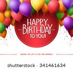 3d realistic colorful bunch of... | Shutterstock .eps vector #341461634