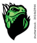 iguana head mascot | Shutterstock .eps vector #341463944
