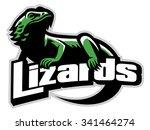 lizard mascot | Shutterstock .eps vector #341464274