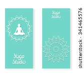 yoga flyer template. vector... | Shutterstock .eps vector #341465576