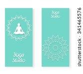 yoga flyer template. vector... | Shutterstock .eps vector #341465576