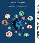 global social network abstract...   Shutterstock .eps vector #341468873