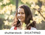 portrait of a serene woman... | Shutterstock . vector #341474960