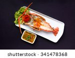 grilled giant river prawn  top...   Shutterstock . vector #341478368