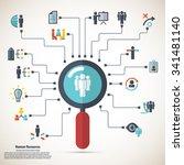 human resource   conceptual... | Shutterstock .eps vector #341481140