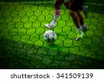 football player was blurred... | Shutterstock . vector #341509139