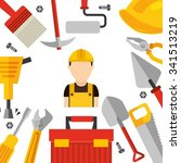 under construction design ... | Shutterstock .eps vector #341513219