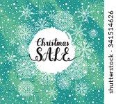christmas sale background.... | Shutterstock .eps vector #341514626