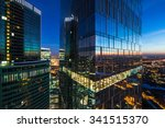 Modern business skyscrapers, high-rise buildings, business center.
